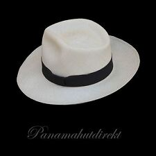 "Genuine Panama Hat from Montecristi ""Diamante"" Subfino Men Straw Fedora"