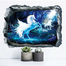 3D Unicorn Removable PVC Wall Stickers For Living Room Bedroom DecorationSN