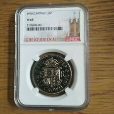 More details for 1970 half crown 1/2 great britain proof. ngc pf65 coin