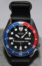 SEIKO 6309-729A Vintage Pepsi Scubapro 450 Diver's Watch Automatic Leather ZULU