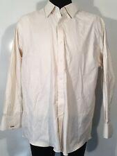 J. Hilburn Tessitura Monti Mens Sz 20.0 33 Dress Shirt Italian Heavy Cotton 0201