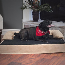 New listing Orthopedic Memory Foam Pet Bed Dog Joint Relief Bolster Cooling Gel Sofa Cushion