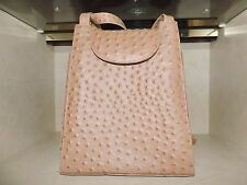 ostrich embossed vintage leather bag EXCELLENT!