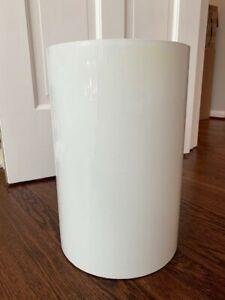 Vintage Mid Century Kartell Colombini White Waste Basket Trash Can Bin