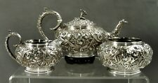 Kirk Sterling Tea Set                        c1905 ALDRICH FAMILY NYC