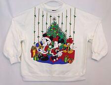 Vtg Women's Disney Mickey Minnie Mouse UGLY CHRISTMAS SWEATER Sweatshirt XL