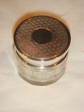 Antique Art Deco DM CO. Birmingham STERLING Faceted Glass Jar