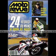 MOTO REVUE N°2795 HONDA CBR 750 CR 250 YZ YAMAHA OPEN SNCF 24H MANS SUZUKA 1987