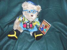 """New~HJ HUGGS """"Bobbie Holiday"""" Travel Bear~HOME INTERIOR"""