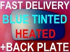 MERCEDES W210 E-CLASS 2000-03 DOOR  MIRROR GLASS BLUE FLAT HEATED+ BACK PLATE