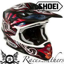Venta Barata Shoei VFX-W ilusión TC1 Negro Rojo Mx Motocicleta Moto Casco XS
