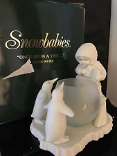 """Department 56 SNOWBABIES Bisque Figurine """"ONCE UPON A TIME'' Votive Edition"""
