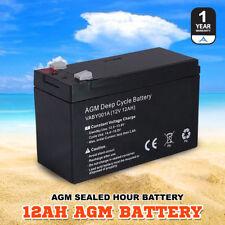 AGM Deep Cycle Battery 12AH Deep Cycle Batteries Dual Fridge Solar Power 12V