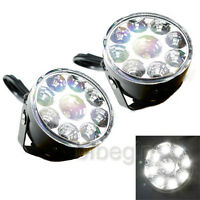 Waterproof 9 LED Round Daytime Running Light DRL Car Fog Day Driving Lamp 800LM