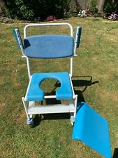 Mobility shower/toilet wheeled chair