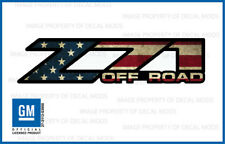 Z71 Off Road Decals Stickers 2004 2005 2006 truck bed American Flag Worn FWFLAG