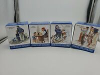 Norman Rockwell Seafarers Tankard Collection Long John Silvers 4 Mugs Porcelain