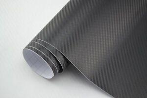 18,64€/m² Carbon Folie 3D Struktur schwarz 152 x 30 cm Klebefolie matt {CBS30