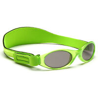 Childs Sunglasses Kidz Banz Shades Adjustable Boys Lime Retro Strap 2-5yrs