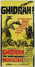 Ghidrah the 3 headed monster Japanese movie poster print