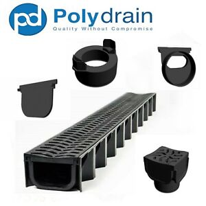 Heelguard Heavy Duty Drainage Channel A15 Linear Storm Water Shallow Flow PVC