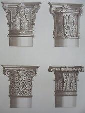Jean BERAIN époque LOUIS IV COLONNE GRAVURE décoration ADAMS MEUBLE XIXéme