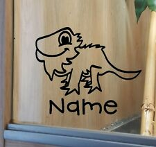 Bearded Dragon Customised Vivarium Decal Sticker