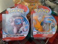 """Pokemon Articulated Deluxe Battle Action CHARIZARD MEWTWO 4.5"""" 12cm Figure Xmas"""