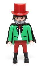 Playmobil Figure Custom Victorian Market Vendor Gentleman w/ Top Hat Cape