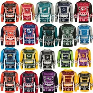 Officially Licensed NFL Light-Up LED Ugly Sweater by Forever Collectibles 492164