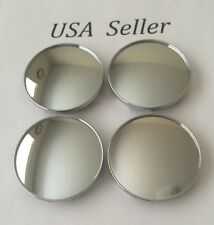 "4 pcs Universal Chrome Empty Wheel Center Caps 68mm/ 2 11/16"" Can Fit BMW"