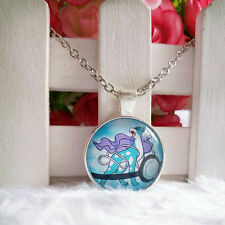 Suicune Legendary Pokemon Pendant Tibet silver Cabochon Glass Chain Necklace
