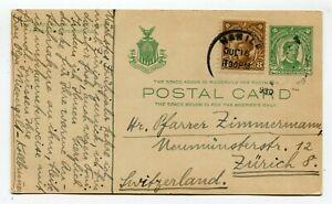 Philippines uprated postcard Manila to Zurich Switzerland 18-7-1930 s/scans