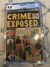 Crime Exposed #4, 4.0 CGC, 1951 Marvel Comics Golden Age (Never Clean/Press)