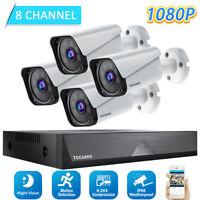 TOGUARD 8CH HD 1080P DVR Außen Überwachungskamera System 4x Sicherheit Kamera DE