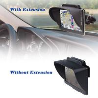 TFY GPS Navigation Sun Shade Visor Plus Flexible Visor Extension Piece for 7Inch