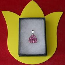 "Beautifun Pink Tourmaline Silver Pendant 18"" 925 Silver Chain In Gift Box"