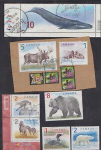 Canada Used Definitives. 2005. Scott1687, 1689-1694, 2405. Microprinting Animals