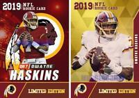 (2) - 2019 DWAYNE HASKINS #15 DRAFT PICK 1st GOLD ROOKIE GEMS RC NFL REDSKINS.