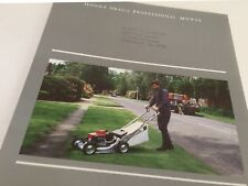 HONDA HRA216 Professional Mower Original 1987 Vintage Sales Brochure