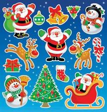 Christmas Stickers Xmas Party Bag Stocking Fillers Gifts Santa Grotto Prize x 6