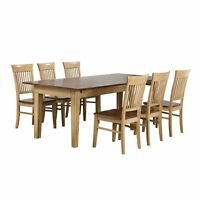 Sunset Trading Brook 7 Piece Rectangular Extendable Dining Table