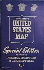 1943 Ww Ii Serviceman'S United States Map Special Ed Us Armed Forces Insignias