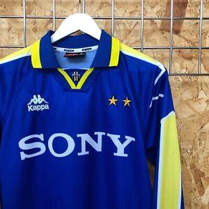 Juventus Kappa Away Shirt 1995/1996 L Large - Top Kit Jersey VTG long sleeve