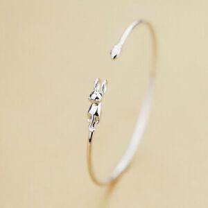 Women Fashion Silver Plated Kitten Animal Cute Cat Bracelet Jewelry Wedding Gift