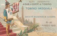 C618) BOLOGNA, SOCIETA' BOLOGNESE DI SCHERMA, TORNEO NAZIONALE 16/20 MAGGIO 1900