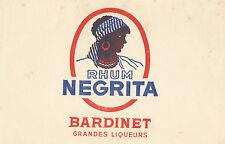 Papel secante. Publicidad de Rhum Negrita. Bardinet grandes liqueurs.