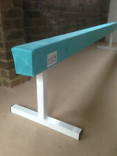 "finest quality gymnastics gym balance beam 6FT long 18"" high TURQUOISE NEW"