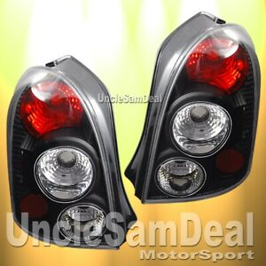 MAZDA PROTEGE 5 HATCHBACK BLACK HOUSING CLEAR ALTEZZA TAIL LIGHTS DIRECT FIT