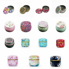 Creative Print Circular Gift Tin Box Tiny Storage Jar Container Tea Candy Holder